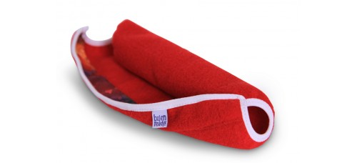 Flaparap: 100% Wool: Jauntily Red